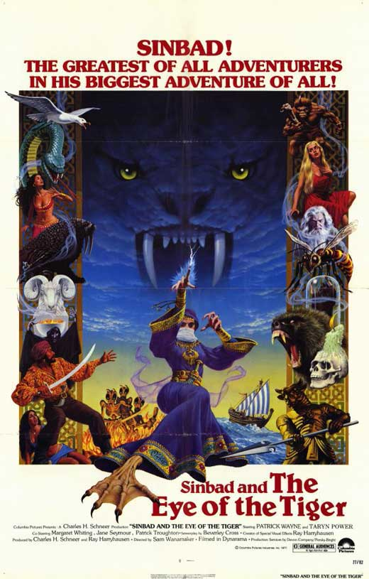 PCG Sinbad and the Eye of the Tiger Poster Movie 11 x 17 In - 28cm x 44cm Patrick Wayne Jane Seymour Taryn Power Margaret Whiting at Sears.com