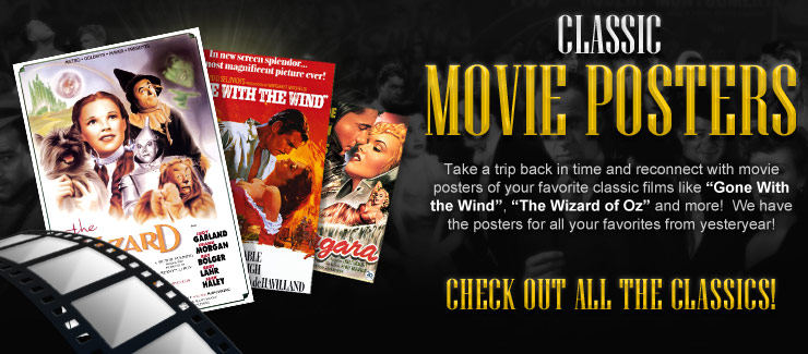Movie posters movie and vintage film posters movie for Buy cheap posters online